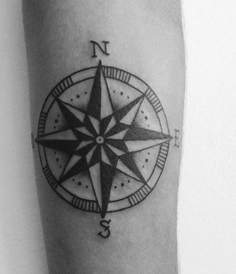 Cute Compass Tattoos