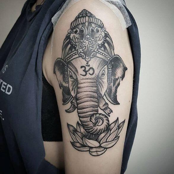 Cute Ganesha Tattoos