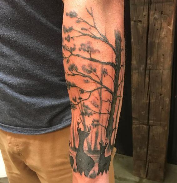Deer Wildlife Tattoos