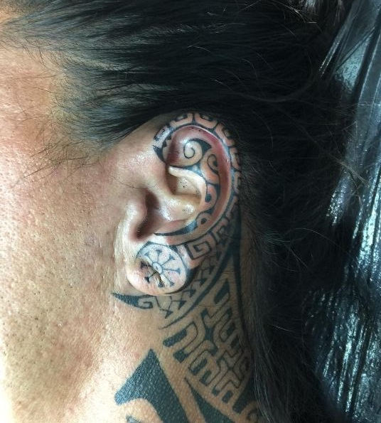Ear Tattoos For Guys