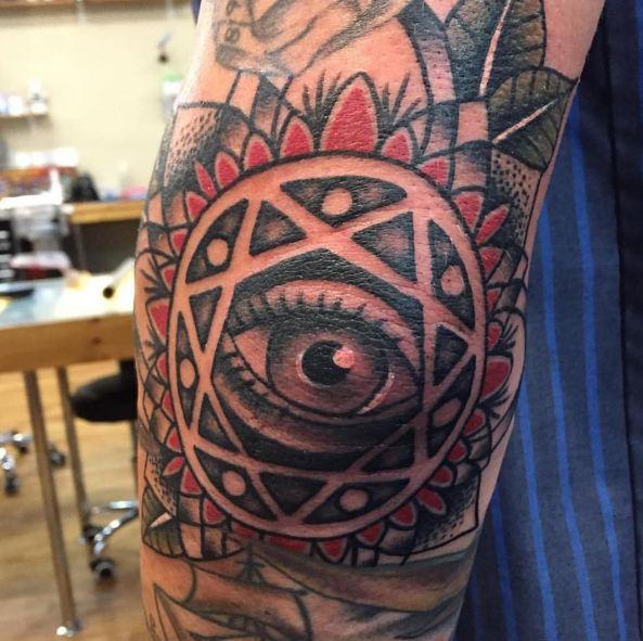 Eye Elbow Tattoos