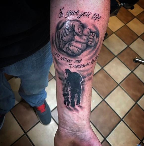 Father Son Tattoos On Forearm
