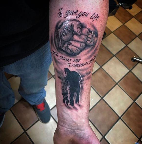 Father Son Tattoos On Forearm