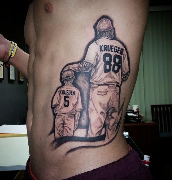 Father Son Tattoos On Rib
