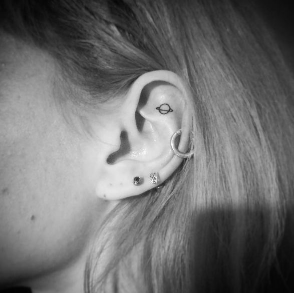 Galaxy Ear Tattoos