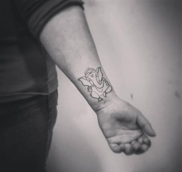 Ganesha Tattoos On Wrist