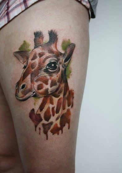 Giraffe Wildlife Tattoos
