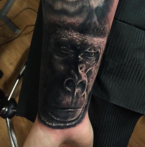Gorilla Wildlife Tattoos