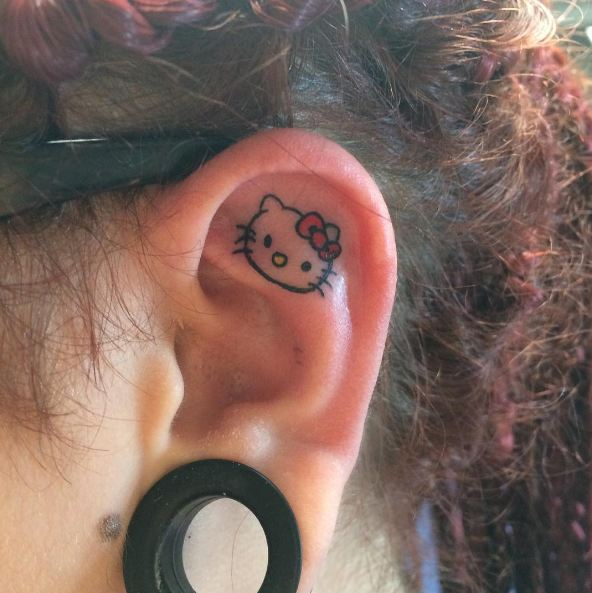 Hello Kitty Ear Tattoos