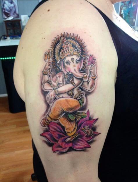 Latest Ganesha Tattoos Ideas