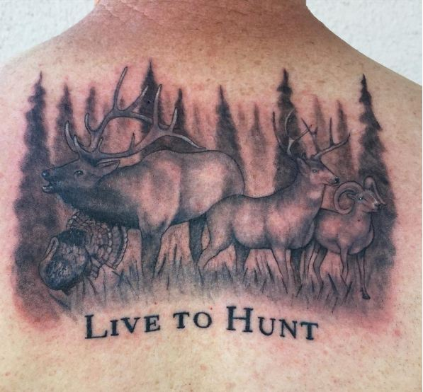 Live To Hunt Wildlife Tattoos