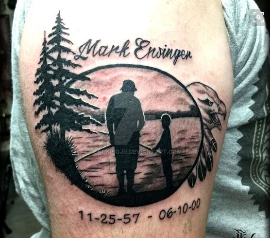 Lovely Father Son Tattoos