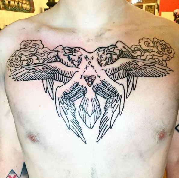 Male Chest Tattoos