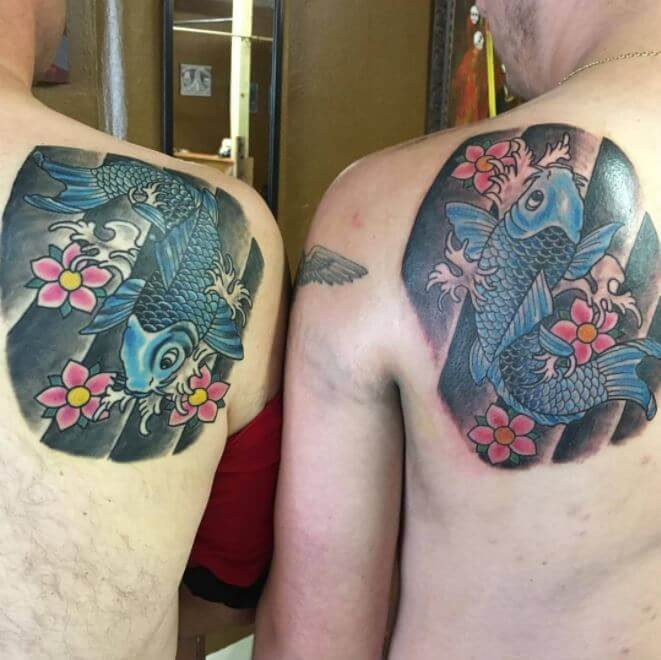 Matching Father And Son Tattoos