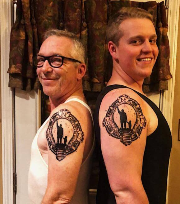Matching Father Son Tattoos