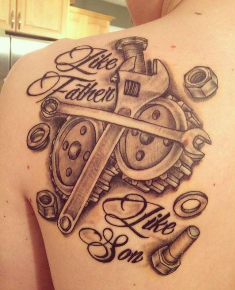 Mechanic Father Son Tattoos