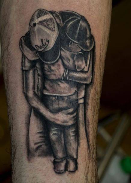 Old Father Son Tattoos Ideas