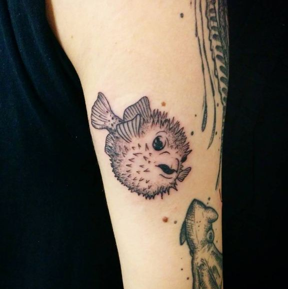 Puffer Fish Wildlife Tattoos
