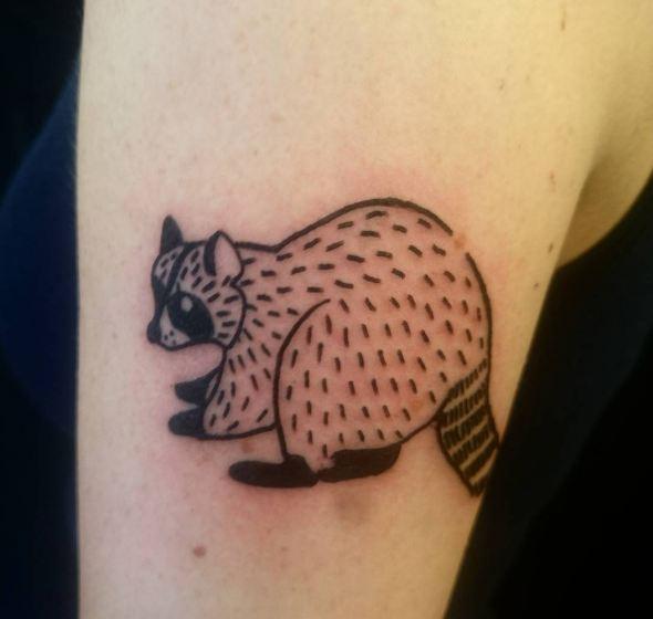 Raccoon Wildlife Tattoos