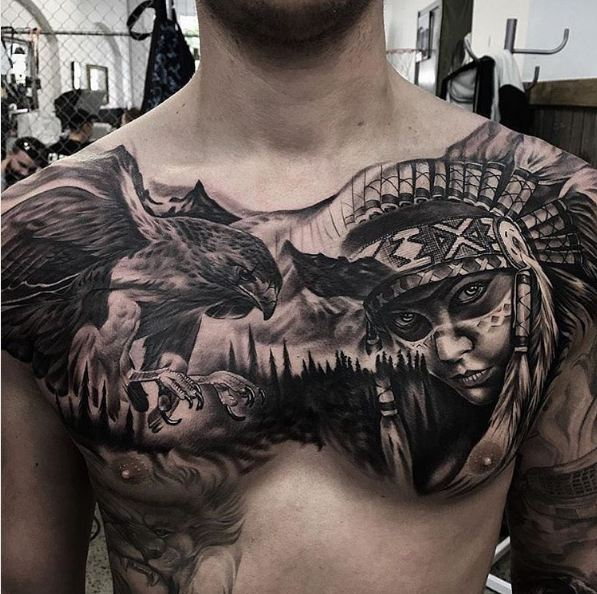 Religious Chest Tattoos
