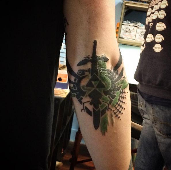 Simple Elbow Tattoos