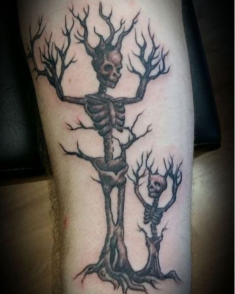 Skeleton Tree Father Son Tattoos Ideas