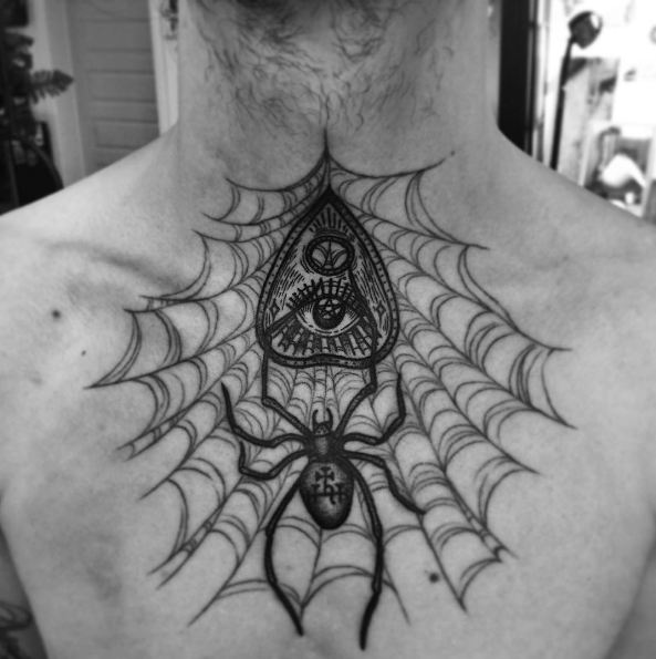 Spider Chest Tattoos