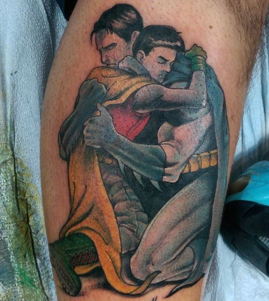 Superhero Father Son Tattoos