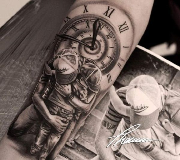 Tattoos With Kids Names For Dad (4)