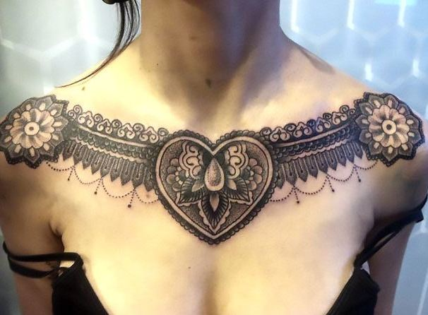 Traditional Collar Bone Tattoos