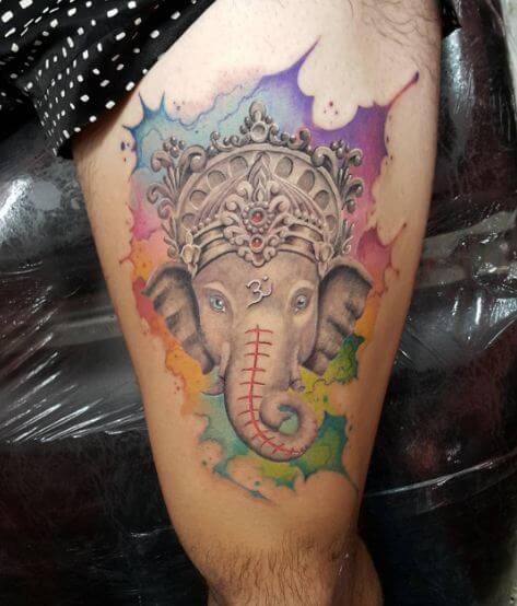Water Ink Ganesha Tattoos For Men
