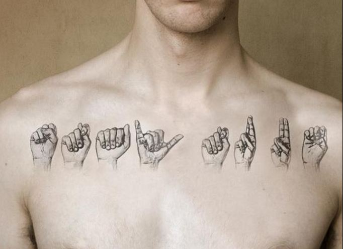 White Collar Bone Tattoos