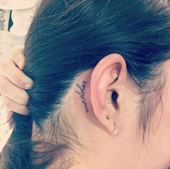 Word Ear Tattoos