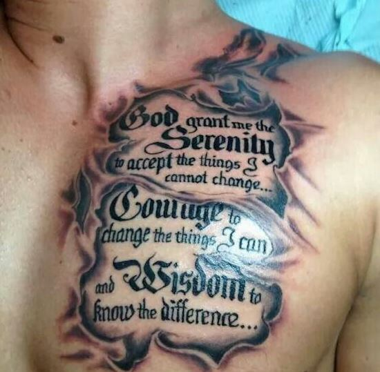 3D Quotes Tattoos Ideas For Men