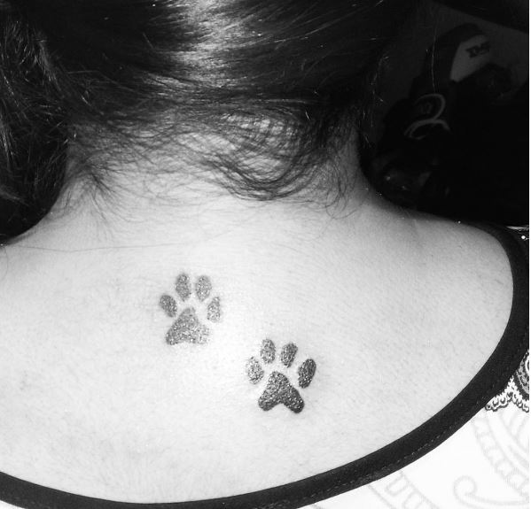 Animal Foot Back Neck Tattoos Design And Ideas