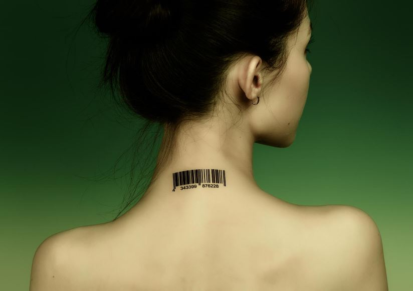 Barcode Back Neck Tattoos Design And Ideas