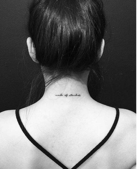Best Word Tattoo Neck Back