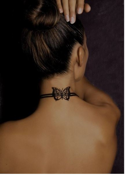 Butterfly Back Neck Tattoos Design And Ideas