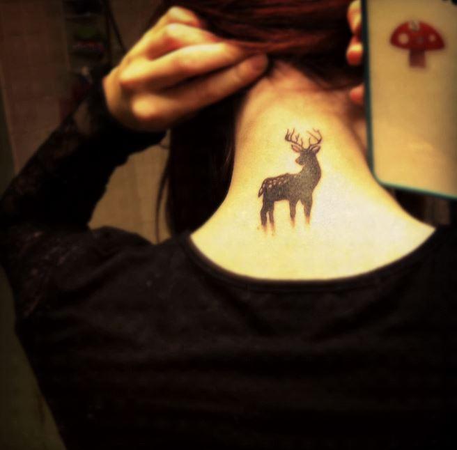 Deer Back Neck Tattoos Design And Ideas
