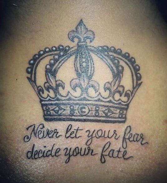 King Crown Back Neck Tattoos Design And Ideas
