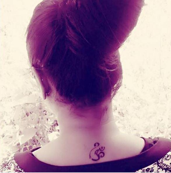 OM Back Neck Tattoos Design And Ideas