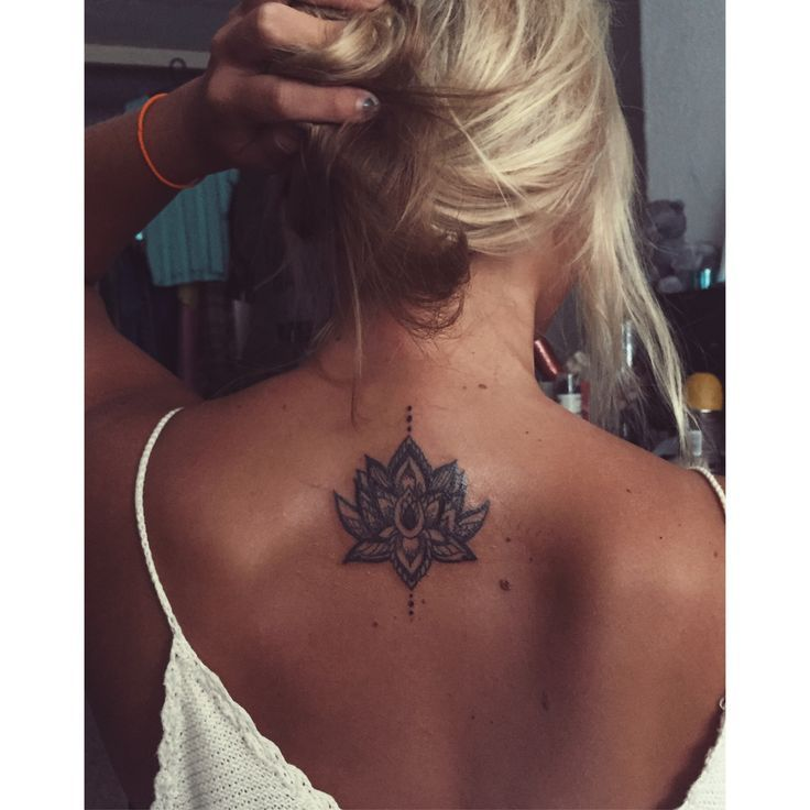 Back Of Neck Tattoos For Women (100)