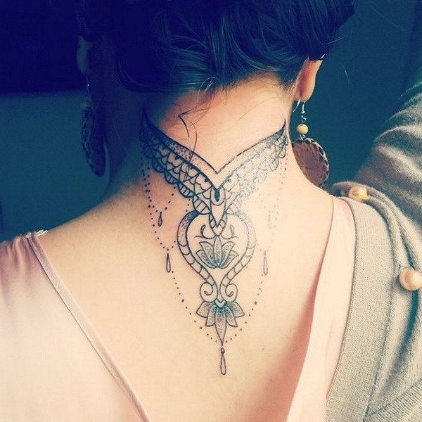 Back Of Neck Tattoos For Women (153)