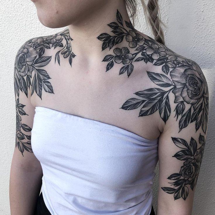 Back Of Neck Tattoos For Women (165)
