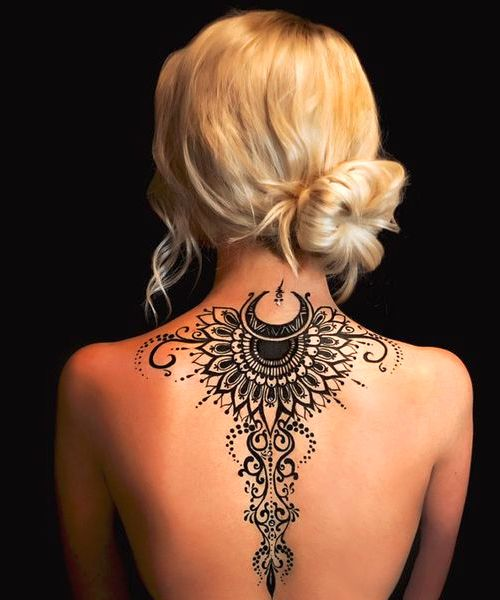 Back Of Neck Tattoos For Women (167)