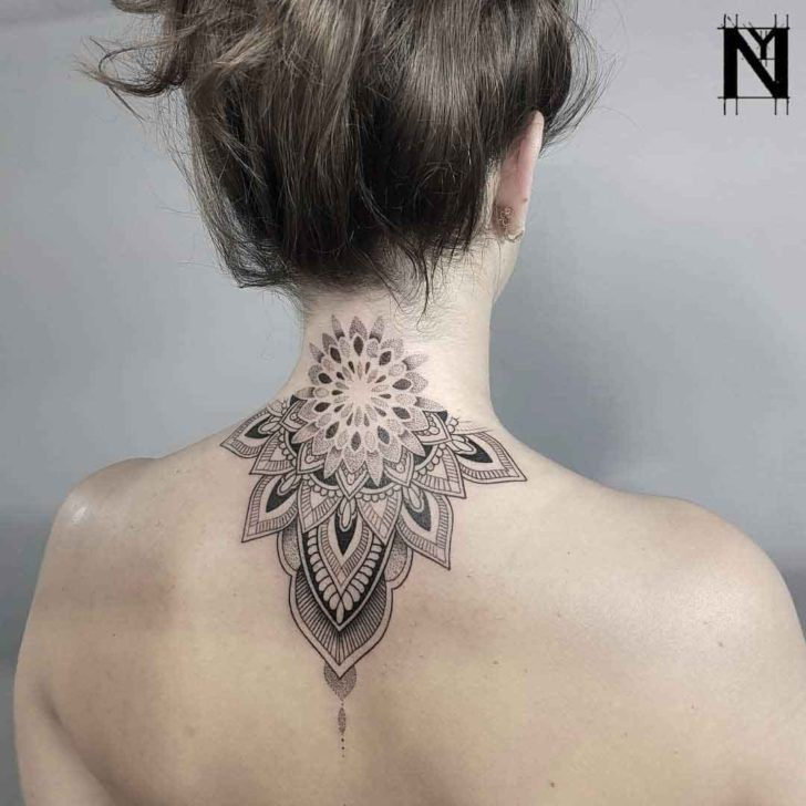 Back Of Neck Tattoos For Women (174)