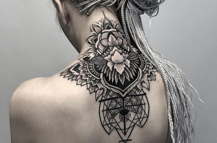 Back Of Neck Tattoos For Women (60)