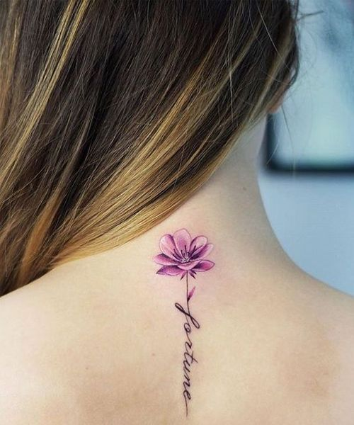 Back Of Neck Tattoos For Women (85)