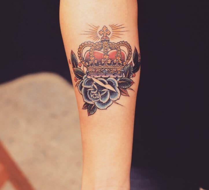 Crown Tattoo Flash