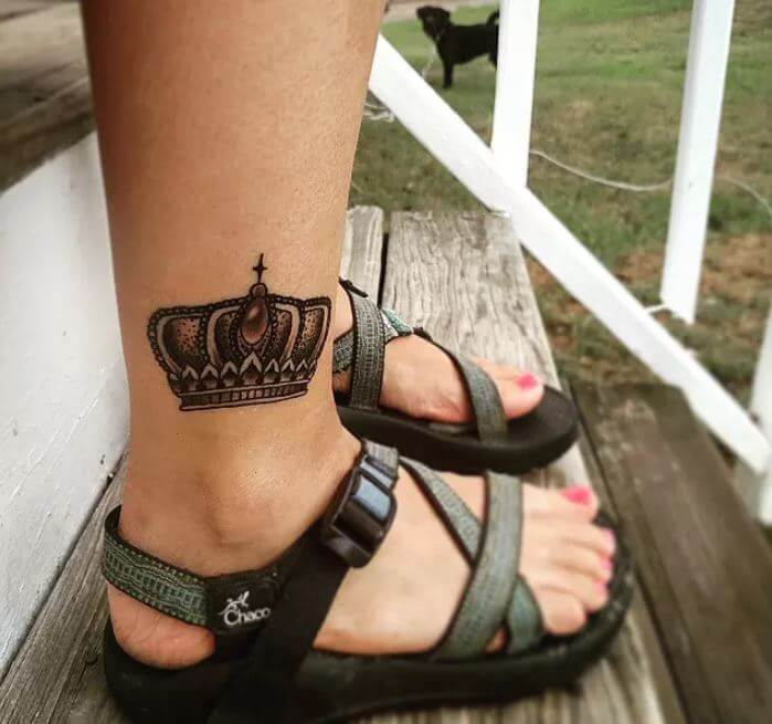 Crown Tattoos Ankle